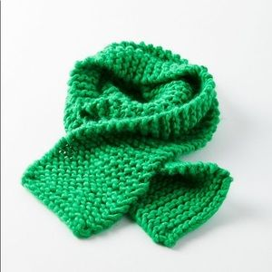 Accessories - NWT Chunky Knit Bright Green Oblong Scarf